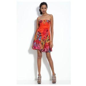☀️ Nanette Lepore silk tropical floral mini dress